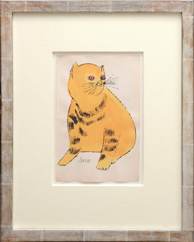 Sam. [Sitting Yellow Cat With Red Eyes.] by Andy Warhol