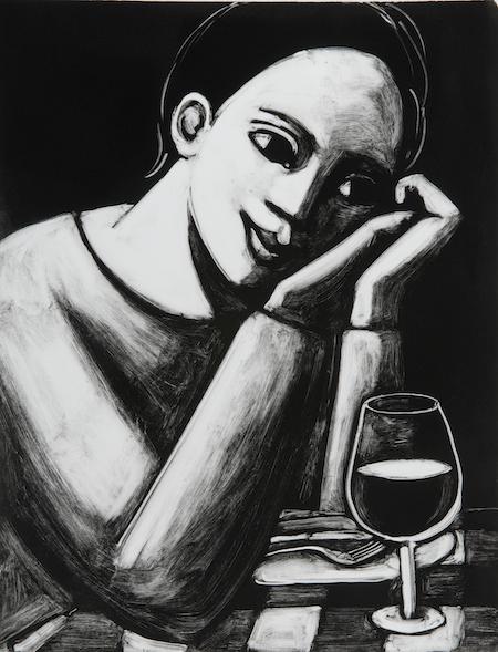 A Glass Of Wine At La Nena by Anita Klein