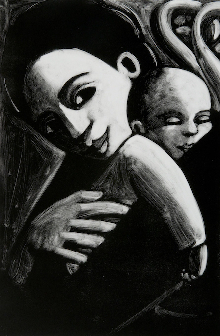 Angel With Baby by Anita Klein