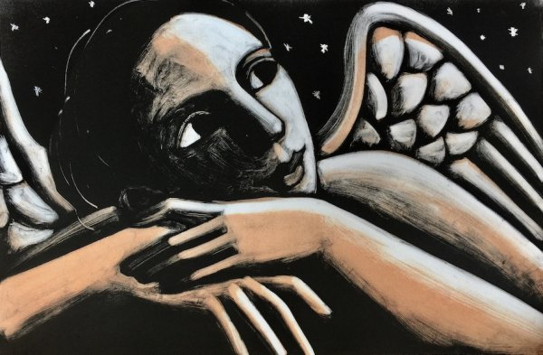 Angel With Stars by Anita Klein at