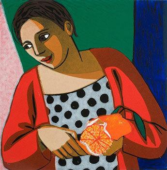 Peeling An Orange by Anita Klein at