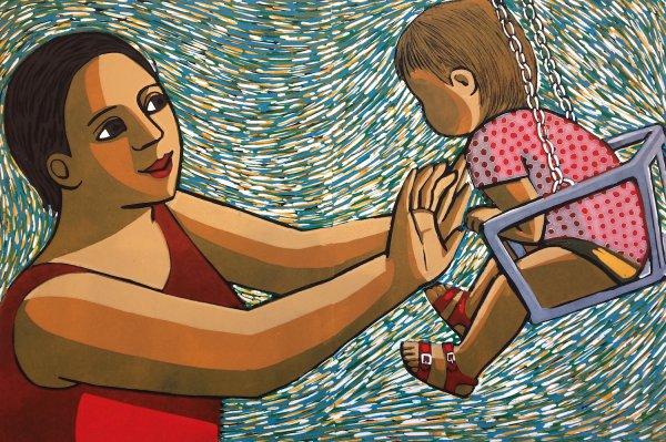 Swinging by Anita Klein