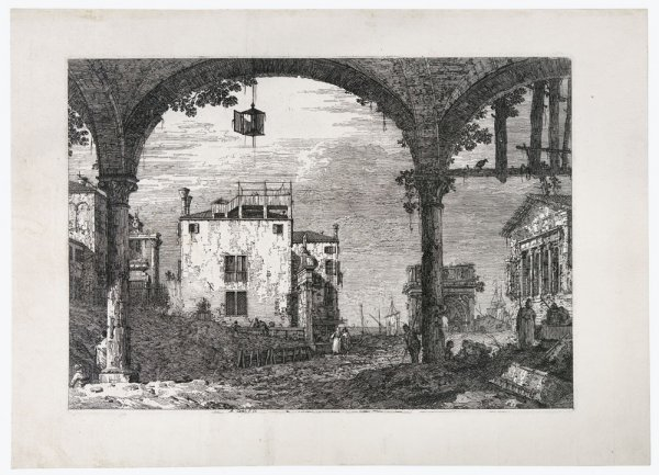 Portico Con Lanterna by Antonio Canal called Canaletto at