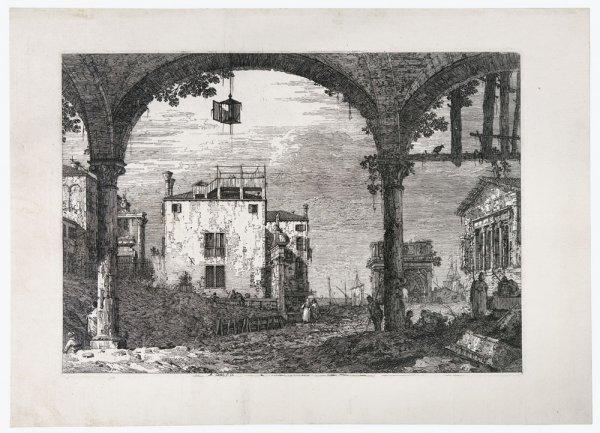 Portico Con Lanterna by Antonio Canal called Canaletto