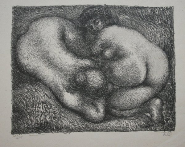 Deux Femmes Dans L'herbe (two Women In The Grass). by Aristide Maillol