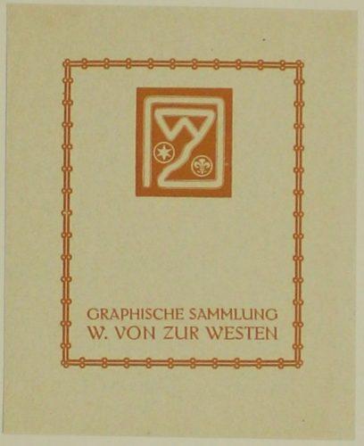 Graphische Sammlung W. Von Zur Westen by Armin von Fölkersam