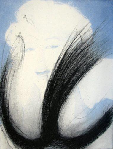 Marilyn Monroe – Blau by Arnulf Rainer