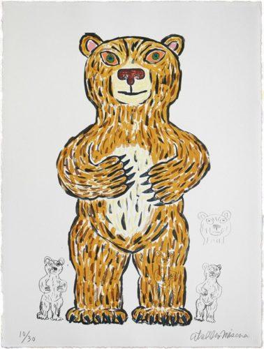 Bear (brown/ Standing) by Atsuhiko Misawa