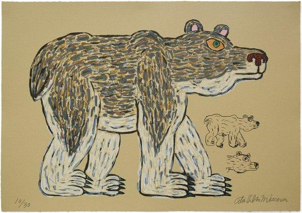 Bear (gray/walking) by Atsuhiko Misawa