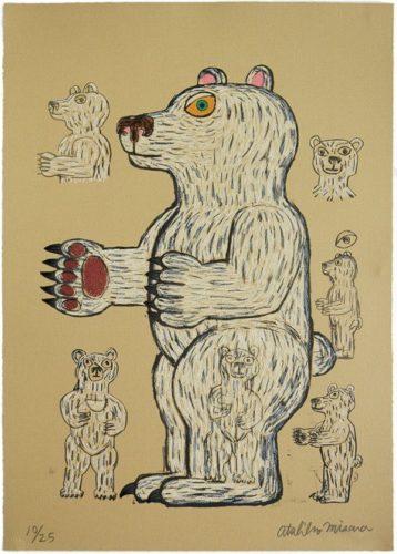 Bear (white/standing/side) by Atsuhiko Misawa