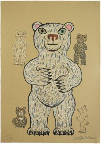Bear (white/ Standing) by Atsuhiko Misawa