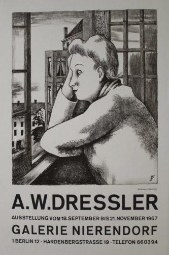 Frau Am Fenster by August Wilhelm Dressler