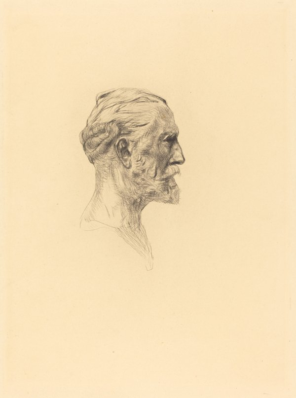 """""""antonin Proust"""" (2 Impressions, One Of The Sixth State And One Of The Seventh), In Augu... by Auguste Rodin"""