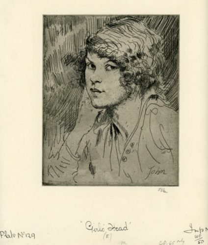 Girl's Head (e) by Augustus John