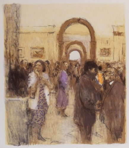 Private View by Bernard Dunstan at