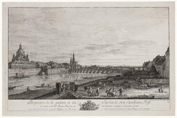 Galerie Et Jardin Du Comte De Brühl, À Dresde by Bernardo Bellotto