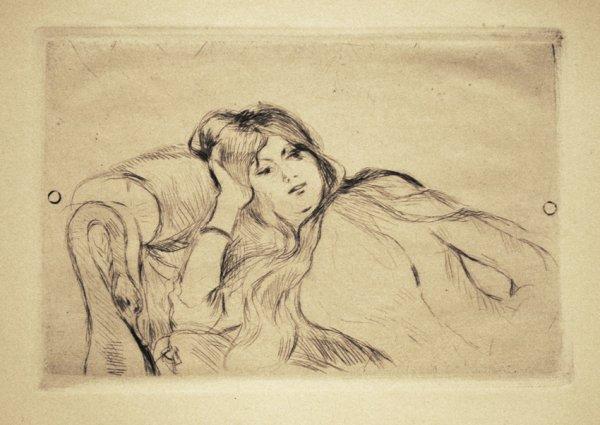 Jeune Fille Au Repos by Berthe Morisot at