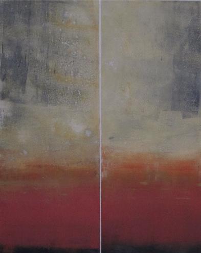 Low Horizon, Red # 02-11-18 by Betty Merken at