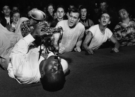 Big Jay Mcneely On Back by Bob Willoughby