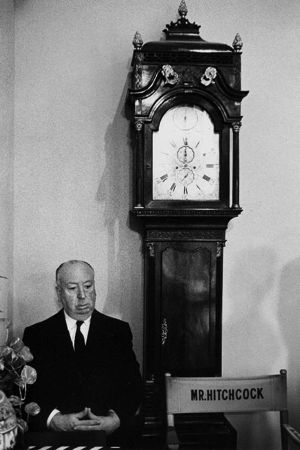 Hitchcock-clock by Bob Willoughby at