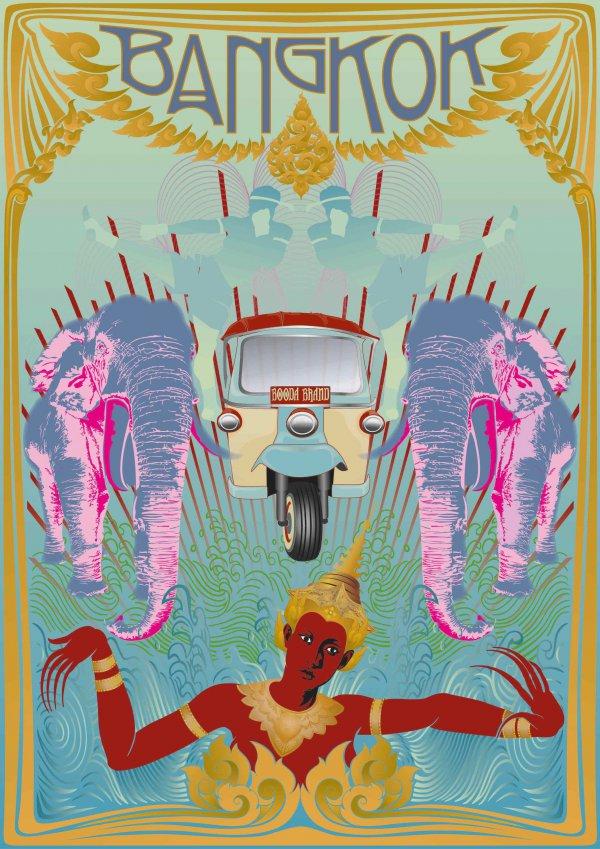 Electric Bangkok (wanderlust Series) by Booda Brand