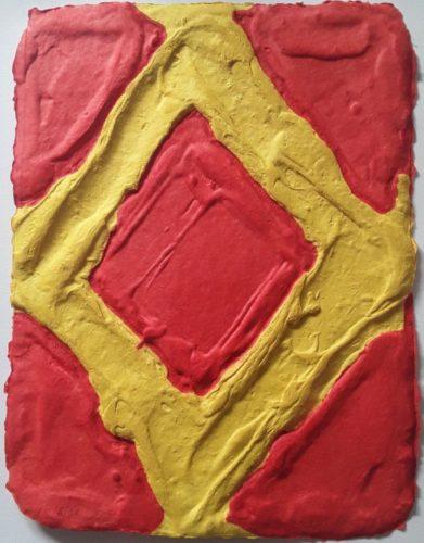 Yellow In Red by Bram Bogart