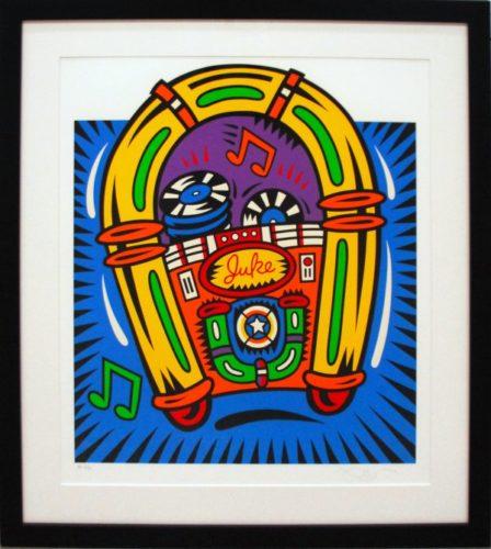 Juke Box by Burton Morris