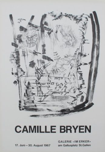 Untitled (exhibition Poster) by Camille Bryen