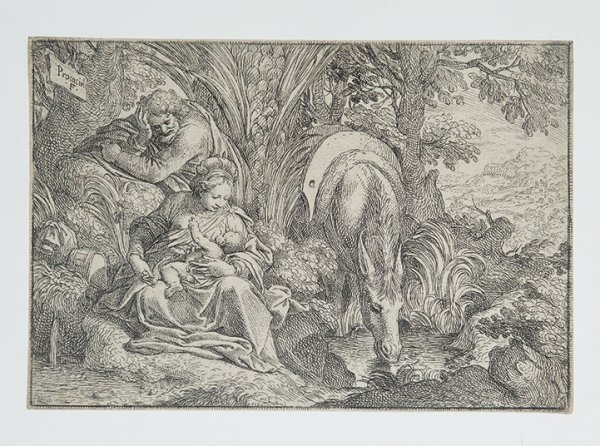 Rest On The Flight Into Egypt by Camillo Procaccini