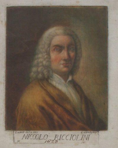 Portrait Of Artist Niccolo Ricciolini by Carlo Lasinio