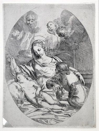 Virgin With Sleeping Child by Carlo Maratti