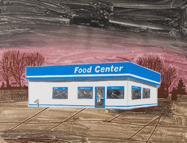 Food Center (brown) by Carolyn Swiszcz at