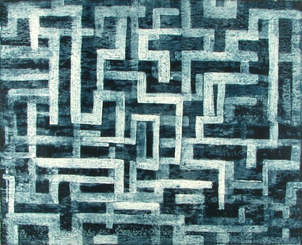 Blue Maze by Catherine Shuman Miller