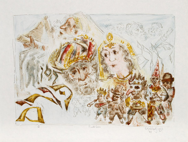 The Jewish Holidays. A Suite Of Eleven Original Lithographs By Chaim Gross by Chaim Gross