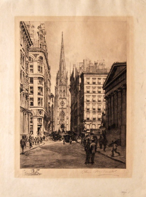 Wall Street, Ny by Charles Friedrich Mielatz