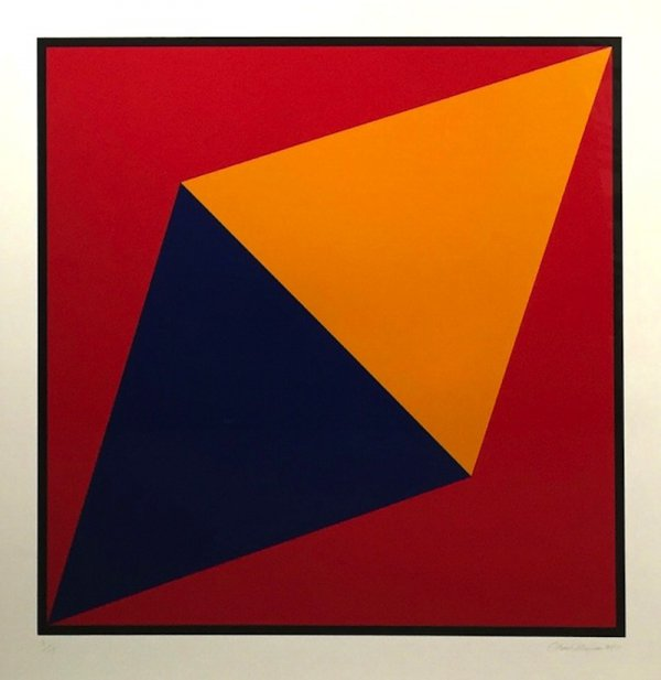 Orange Triangle by Charles Hinman