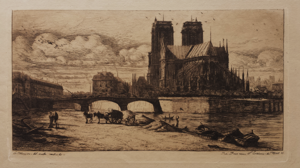 L'abside De Notre-dame De Paris by Charles Meryon at