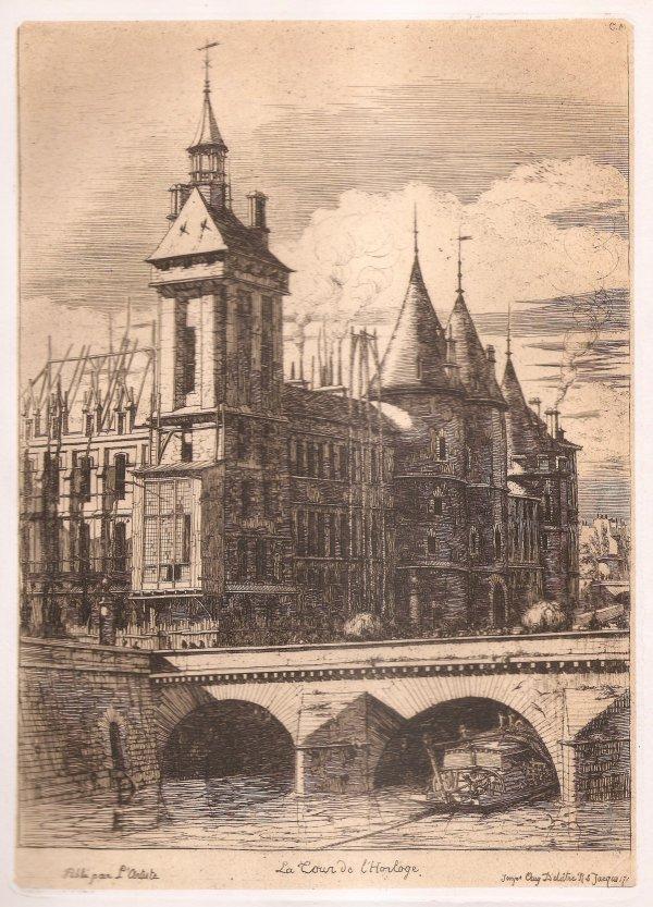 La Tour De L'horloge / The Clock Tower by Charles Meryon