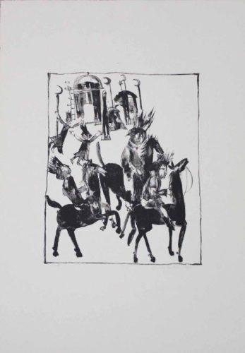 Adschîb, Gharîb Und Kâsim Machen Sich Auf Den Weg by Christa Pyroth at Sylvan Cole Gallery