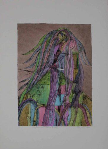 Pelzhaus Mit Engel. Schutz Vor Bedrohung by Christa Pyroth at Sylvan Cole Gallery