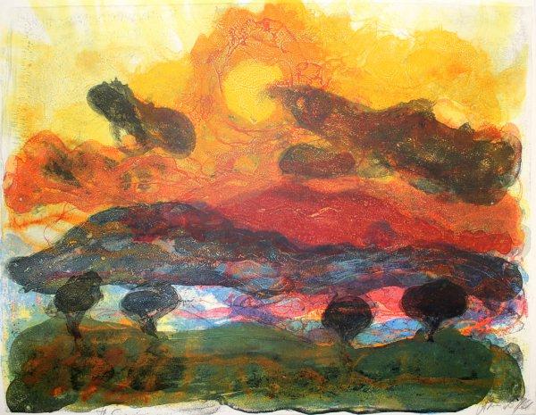Landschaft Mit Pinien by Christian Kruck