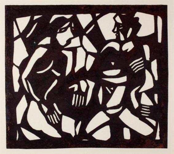 Unterredung (conversation) by Christian Rohlfs at