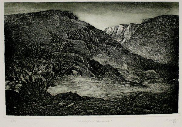 Landschaft Mit Strauchwerk / Landscape With Bushes by Claus Müller
