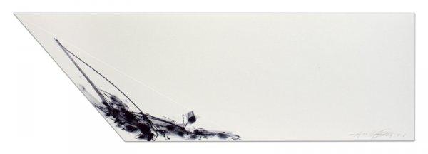 Untitled (sail) by Dan Flavin