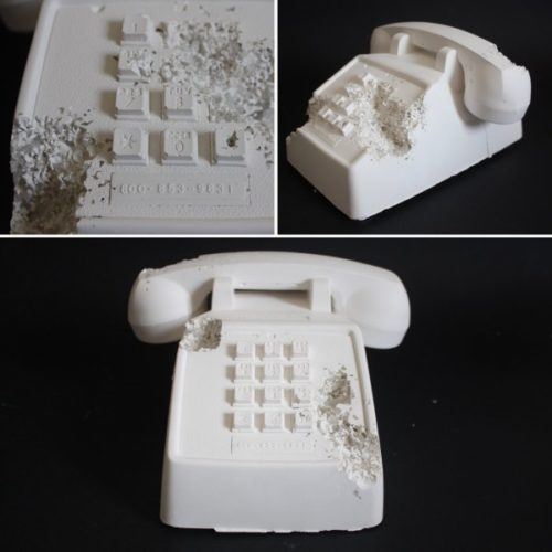 Future Relic 05 (telephone) by Daniel Arsham
