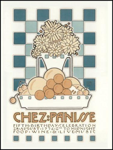 Chez Panisse 5th Birthday by David Lance Goines