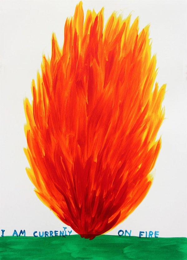 I Am Currently On Fire by David Shrigley