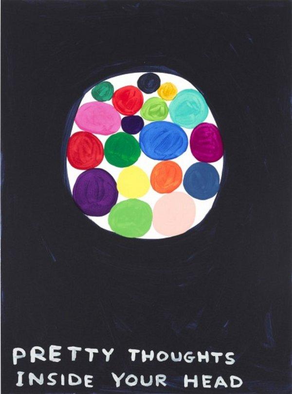 Pretty Thoughts Inside My Head by David Shrigley