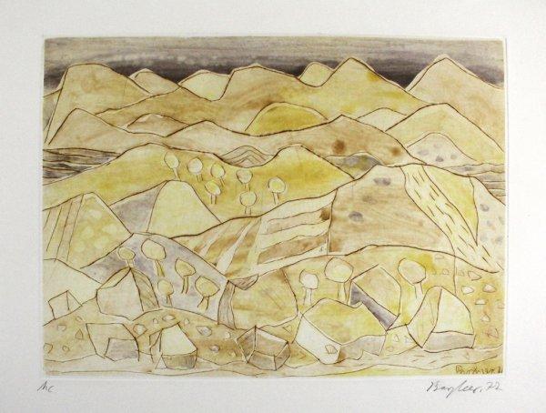 Sizilianische Landschaft / Sicilian Landscape by Eduard Bargheer