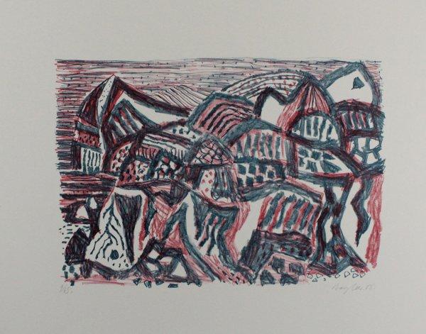 Vulkanische Landschaft by Eduard Bargheer